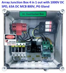 Solar Array Junction 4 in 1 Out DC Distribution Box