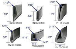 Black Rubber Profiles