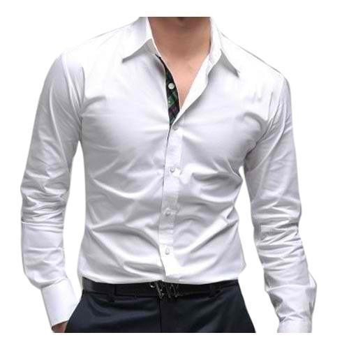 ac89906aa White Cotton Linen Shirt For Men