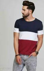 Multicolor Casual Wear Mode Choix Men's Stylish T-shirt