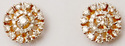 Flawless Prong Diamond Studded Concentric Circular Shape Solid Gold Earring