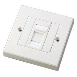 White Modular Electrical Switch, Module Size: 1 Module