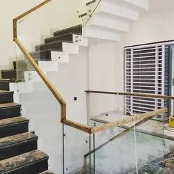 Side Bracket Railing System With Glass