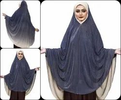 Instant Stitched Hijab Scarf Abaya Dress