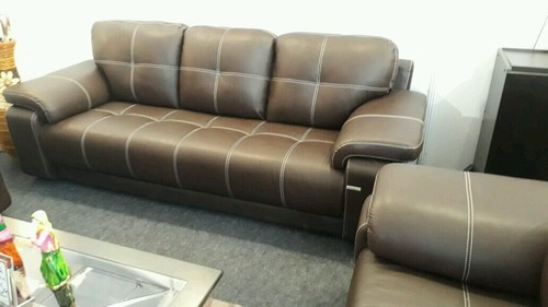 Leather Sofa Set ( 7 - Seater ), Contemporary Leather Sofa, Leather Couch,  चमड़े का सोफा - The Wood Home, Ambala | ID: 14857538773