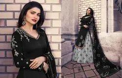 Georgette Ethnic Wear Designer Heavy Embroidered Latest Indo Western
