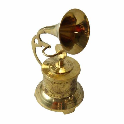 Antique Brass Gramophone