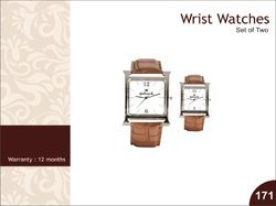 Set Of Two Analog Wrist Watch