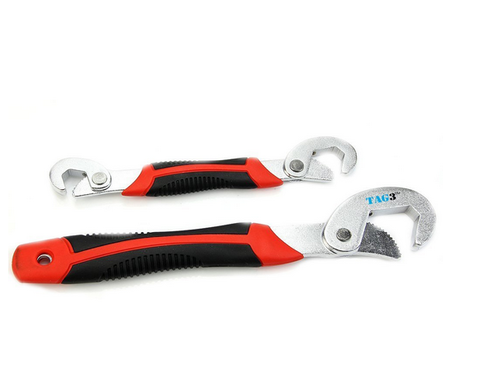 2Pcs Grip 9mm-32mm Multifunction Wrench Universal Adjustable Wrench Spanner