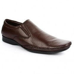 Men Brown Formal Non Lacing Shoe