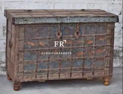 Indian Furniture - Vintage Vintage Trunk