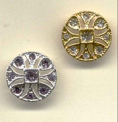 Round Metal Button for Decorative
