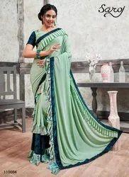 Stylish Designer Frill Saree