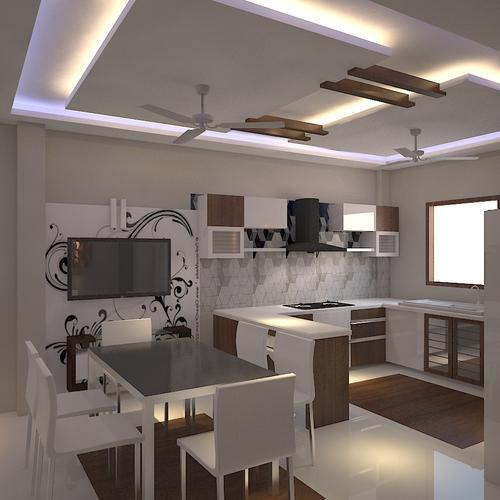 Interior Design Hall And Kitchen: Open Kitchen Dinning Hall Interior Design Service In