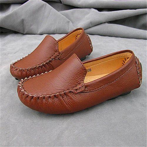 68b9c7994766 Brown Boy Kids Leather Shoes