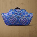Brocade Embroidered Multi Colour Clutch