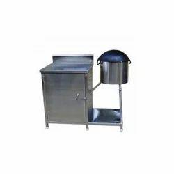 Stainless Steel rainbow kitchen equipments Roomali Roti Trolley