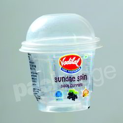 Plastic 70mm 125ml Spin Ice Cream Cup
