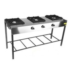 Silver Stainless Steel Gas Stoves, For Kitchen