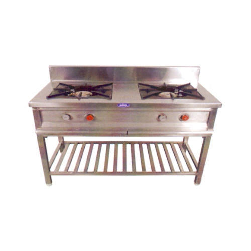 Stainless Steel Two Burner Indian Range