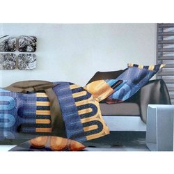 Zordon Printed Double Bed Sheets