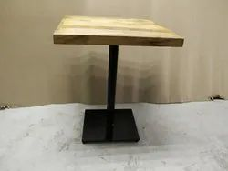 Awesome Metal and Wood Restaurant and Cafe Table, Seating Capacity: 2, Size: 30*30*30