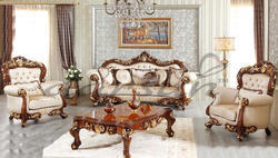 Aarsun Wooden Carved Sofa Set for Home