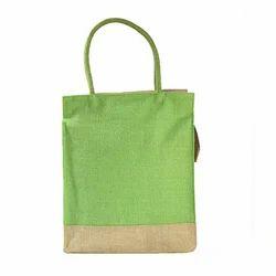 P Green Jute Bag