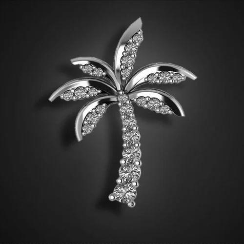 Palm tree diamond pendant heere ke pendant karat square surat palm tree diamond pendant aloadofball Images