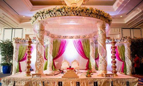 Crystal Jali Wedding Mandap