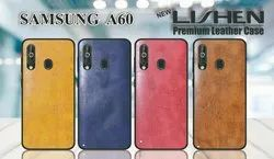 Lishen Leather Samsung A-60 Mobile Cover