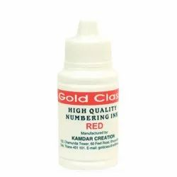 Gold Class 50 ml Red Numbering Ink