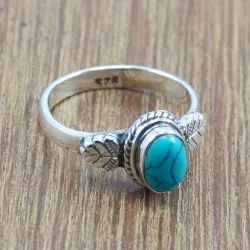 Wholesale 925 Sterling Silver Turquoise Stone Ring
