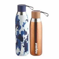 Stainless Steel Screw Cap Nayasa Water Bottle, Capacity: 500ml & 750ml