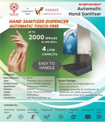 AUTOMATIC TOUCH LESS HAND SANITIZER DISPENSER