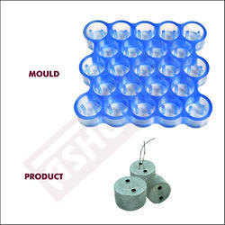 Round Cover Block Mould For Slab - 50mm (23 Cavity) With 2 Holes - 50mm Diameter