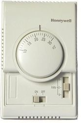 White Pvc Honeywell Thermostat T6373A1108, 10-30 Deg C