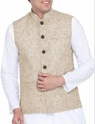 Khadi Look Nehru Jacket
