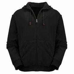 Black And Grey Casual Wear Men's Trendy Hoodie