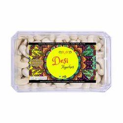 Desi Munchies Borma Cashew W240 (Benin), Packaging Type: 1 Kg Pouch