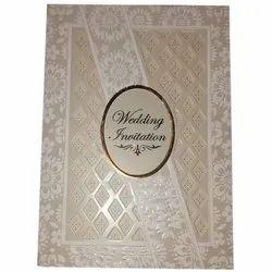 Kraft Paper Designer Christian Wedding Invitation Card, Size: 10x7 Inch
