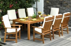 Kurl On Garden Dining Table Set