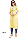 Yellow Color Casual Kurti