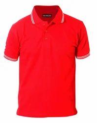 Men Hosiery Round Neck Plain T-Shirt