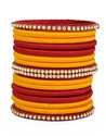 Red and Orange Silk Thread Bangle
