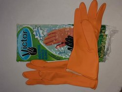 Full Finger Unisex Industrial Rubber Hand Gloves, Size: Large, Model Name/Number: Victor