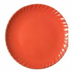 Melamine 10.5 Inch Laher Red Colour Plate
