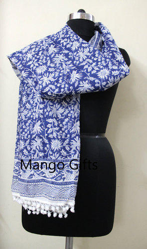 775439dca9168 Block Print Dupatta Long Sarong Pareo Women Wrap Cover-up at Rs ...