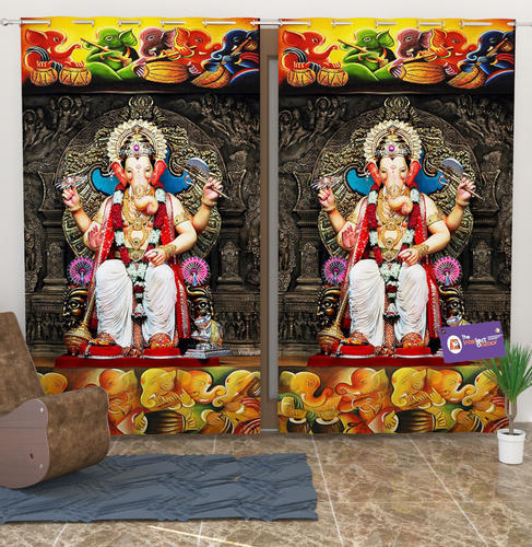 Fantastic Digital Printed Temple Curtains Interior Design Ideas Inamawefileorg