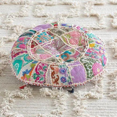 Round Suti Floor Pillow Cushion Gypsy Bohemian Round Floor Cushions